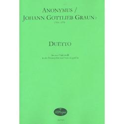 Graun, Johann Gottlieb: Duetto : f├╝r 2 Violen da gamba Partitur und Stimmen