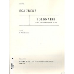 Schubert, Franz: Polonaise : for 3 recorders (SSA) and piano