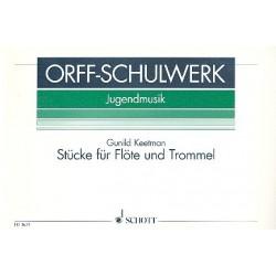 Keetman, Gunild: Stücke : für Flöte und Trommel Spielpartitur