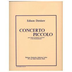 Denissow, Edison: CONCERTO PICCOLO POUR QUATRE SAXOPHONES SUCCESSIFS ET SIX PER- CUSSIONNISTES / PARTIES POUR PERC.