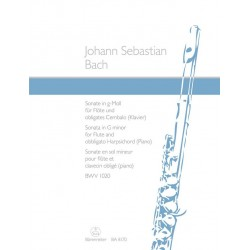 Bach, Johann Sebastian: Sonate g-Moll BWV1020 : für Flöte und Klavier