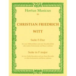 Witt, Christian Friedrich: Suite F-Dur : f├╝r 3 Blockfl├Âten (SSA) und Bc