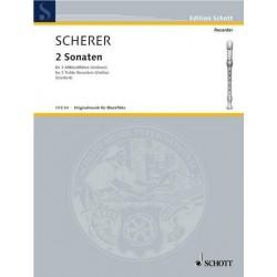 Scherer, Johann: 2 Sonaten op.1,1-2 : für 3 Altblockflöten Spielpartitur