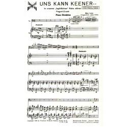 Lenz, Max: Uns kann keener : Intermezzo für Fagott-Duett und Salonorchester Partitur und Stimmen