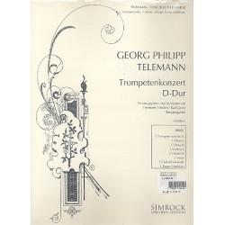 Telemann, Georg Philipp: Konzert D-Dur : für Trompete und Orchester Stimmensatz (Harmonie und 3-3-2-3)