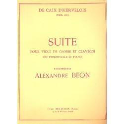 Caix d'Hervelois, Louis de: SUITE : POUR VIOLE DE GAMBE ET CLAVECIN (OU VIOLONCELLE ET PIANO) BEON, ALEXANDRE, ED
