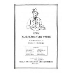 10 Alpenländische Tänze : für 2 Konzertzithern Stimmen