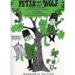 Prokofieff, Serge: Peter und der Wolf : Bearbeitung für Blockflöten-Spielkreis und Schlagwerk Partitur