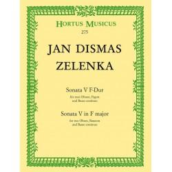 Zelenka, Jan Dismas: Sonate F-Dur Nr.5 : für 2 Oboen, 9537