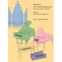 Musik aus dem italienischen Spätbarock : für 2 Tasteninstrumente