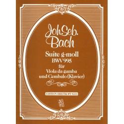 Bach, Johann Sebastian: SUITE G-MOLL : FUER VIOLA DA GAMBA UND CEMBALO, BWV 995