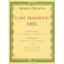 Abel, Karl Friedrich: 6 Sonaten Band 2 : für Viola da gamba und Bc