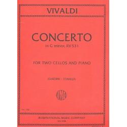 Vivaldi, Antonio: Concerto in g Minor FIII:2 (P411) : for 2 cellos and piano