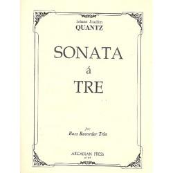 Quantz, Johann Joachim: Sonata à 3 : for 3 recorders (BBB) score and parts