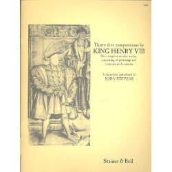 Henry VIII, König von England: 35 Compositions : His complete secular works, consisting of partsongs and instrumental consorts