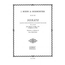 Boismortier, Joseph Bodin de: Sonate op.34,3 : pour 4 flutes a bec (AAAB) ou 4 flutes Partition