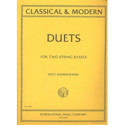 24 classical and modern Duets for 2 string basses