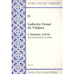 Viadana, Lodovico Grossi da: 2 sinfonie (1610) : for 8 instruments in 2 choirs