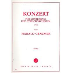 Genzmer, Harald: KONZERT : FUER KONTRABASS UND STREICHORCHESTER PARTITUR