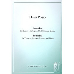 Poser, Hans: Sonatine op.36,3 : f├╝r Tenorblockfl├Âte (Sopranblockfl├Âte) und Klavier