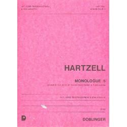 Hartzell, Eugene: MONOLOGUE 5 : FUER ALT- ODER TENOR- SAXOPHON UND SCHLAGWERK PARTITUR