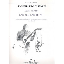 Vivaldi, Antonio: Largo et larghetto : pour 4 guitares solistes et ensemble de guitares partition et parties