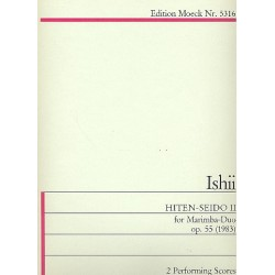Ishii, Maki: Hiten-Seido 2 op.55 : for marimba duo 2 scores