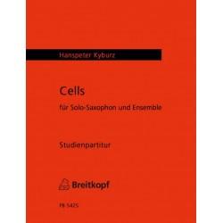 Kyburz, Hanspeter: Cells für Saxophon und Ensemble Studienpartitur