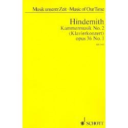 Hindemith, Paul: Kammermusik Nr.2 op.36,1 : f├╝r Klavier und 12 Soloinstrumente Studienpartitur