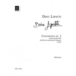Lipatti, Dinu: Concertino im klassischen Stil op.3 für Klavier und kleines Orchester : für 2 Klaviere zu 4 Händen