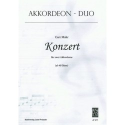 Mahr, Curt: Konzert : f├╝r 2 Akkordeons Spielpartitur