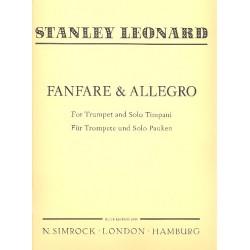 Léonard, Hubert: Fanfare and Allegro : für Trompete und Solo-Pauken Partitur und 2 Stimmen