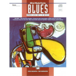 ALFRED MASTER TRACKS BLUES (+CD) : FOR DRUMS IMPROVISE WITH TODAY'S TOP ARTISTS