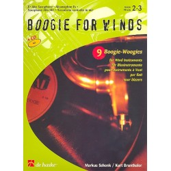 Schenk, Markus: Boogie for winds (+ CD) : 9 Boogie-Woogies for wind instruments Alto-Saxophone in Eb