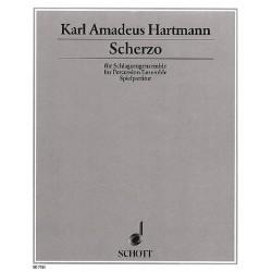 Hartmann, Karl Amadeus: Scherzo für Schlagzeugensemble und Klavier // Partitur Hiller, Wilfried, Bearb.