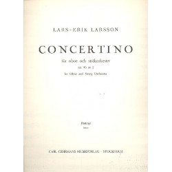 Larsson, Lars-Erik: Concertino op.45,11 : for string bass and orchestra score