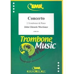 Mortimer, John Glenesk: CONCERTO FOR 2 TROMBONES AND ORCHE- STRA FOR 2 TROMBONES AND PIANO SLOKAR, B., ED.