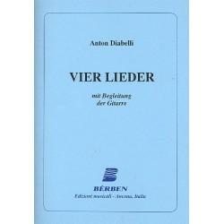 Diabelli, Anton: 4 Lieder : f├╝r Gesang und Gitarre