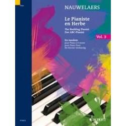 EN TANDEM : 30 PETITES PIECES ET CHANTS POPULAIRES POUR PIANO A 4 MAINS PIANISTE EN HERBE VOLUME 3