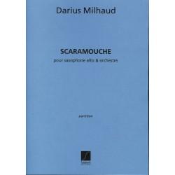 Milhaud, Darius: Scaramouche Suite pour saxophone alto et orchestre partition