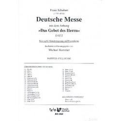 Schubert, Franz: Deutsche Messe F-Dur D872 : für Gemeindegesang und Blasorchester Partitur