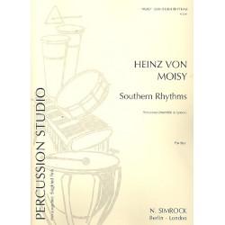 Moisy, Heinz von: Southern Rhythms : für Percussion-Ensemble (6 Spieler) Partitur