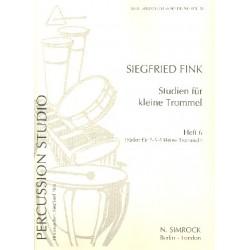 Fink, Siegfried: Studien für kleine Trommel Band 6 Etüden für 2-6 Trommeln