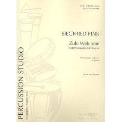 Fink, Siegfried: Zulu welcome : Südafrikanische Imressionen für Percussionsensemble Partitur und 6 Stimmen
