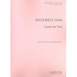 Fink, Siegfried: Game for two : für Akkordeon und Schlaginstrumente Partitur