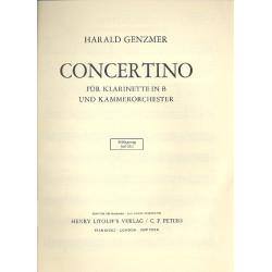 Genzmer, Harald: Concertino : f├╝r Klarinette und Orchester Schlagzeug (ad lib.)