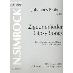 Brahms, Johannes: Zigeunerlieder op.103 : für Chor und Klavier