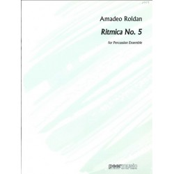 Roldán Gardes, Amadeo: Ritmica no.5 : for percussion ensemble score