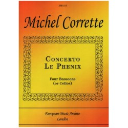 Corrette, Michel: Concerto Le Ph├®nix : for 4 bassoons (cellos, viols) and bc