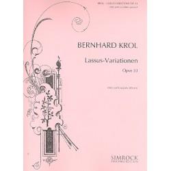 Krol, Bernhard: Lassus-Variationen op.33 : f├╝r Viola und Cembalo